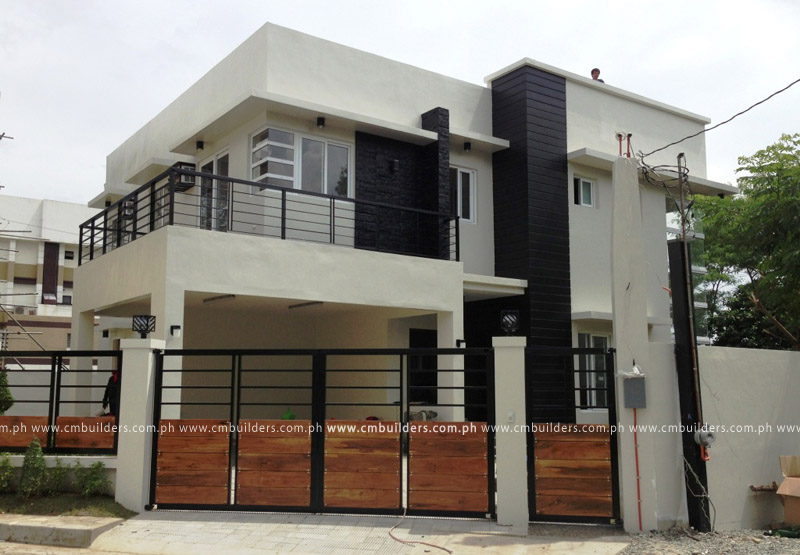 2 storey modern design cm builders for 3 story modern house plans philippines